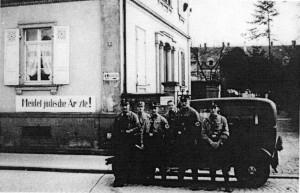 Das Haus des Arztes Alfred Grünebaum in der Josefstraße während des Naziregimes.